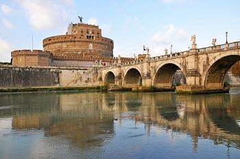 В Риме Замок Сан-Анджело