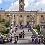 Капитолийский холм в Риме - главная достопримечательность Италии