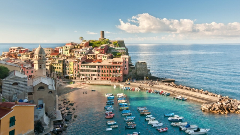 Побережье моря в Римини