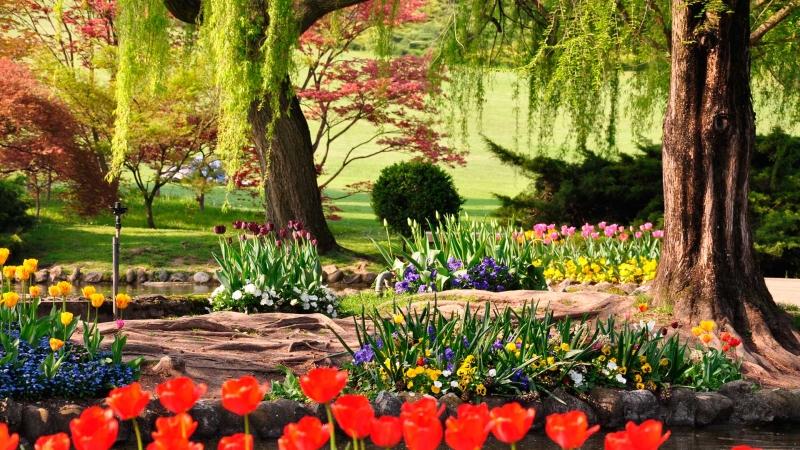 Прекрасный парк-сад Сигурта неподалеку от озера Гарда