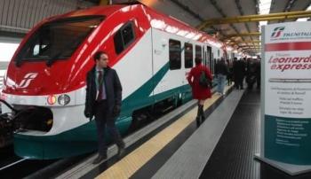 Леонардо Экспресс - поезд, на нем можно добраться из аэропорта Фьюмичино в Рим