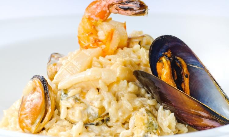 Вкусное и сочное ризотто с морепродуктами - Маринара