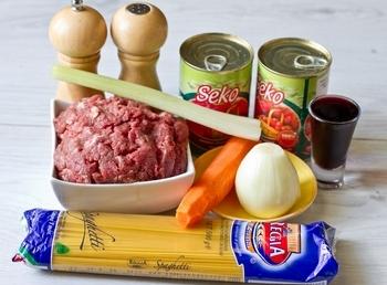 Домашний рецепт макарон под соусом болоньезе с фаршем