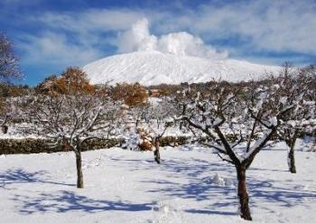 Снежная зима в Сицилии