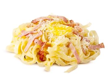Рецепт фетучини карбонары с беконом и сливками