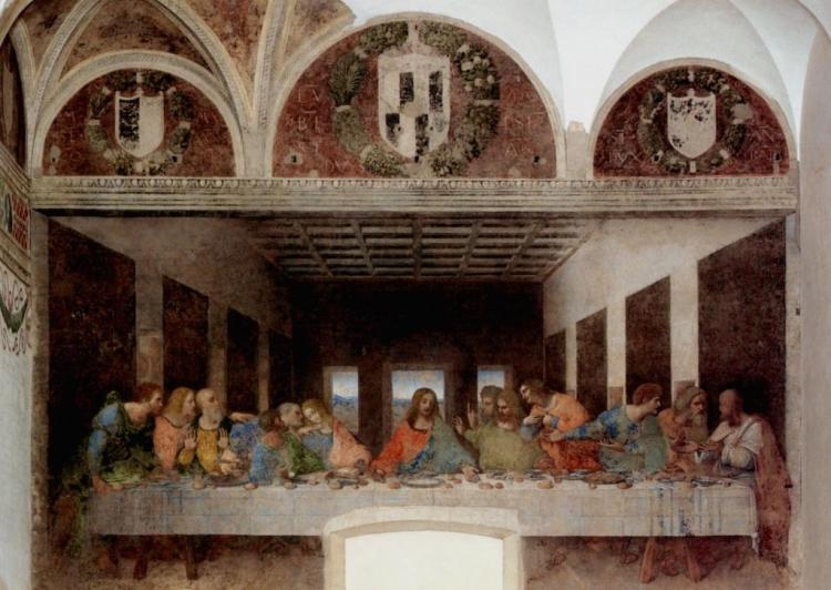 Фото Тайной Вечери авторства Леонардо да Винчи