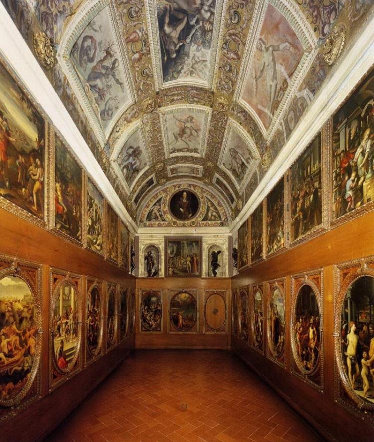 Фото кабинета  Франческо I Медичи в Палаццо Веккьо