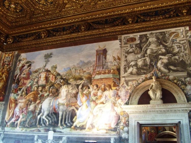 Фреска истории Марка Фурия Камилла в Зале правосудия в Палаццо Веккьо