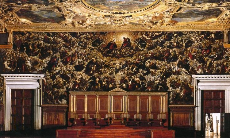 Зал Большого Совета в венецианском Дворце дожей