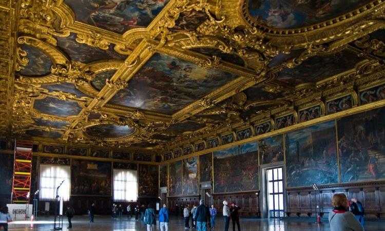 Зал Большого Совета во Дворце дожей в Венеции