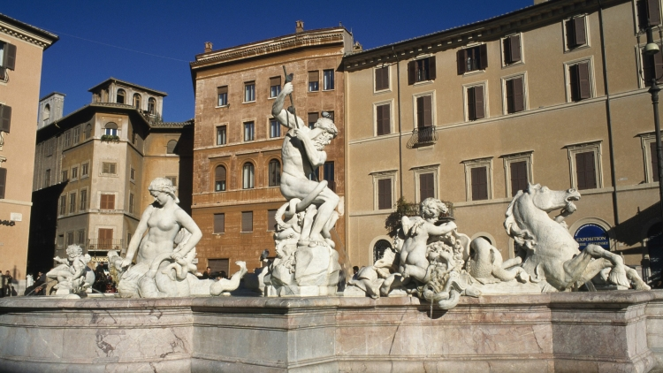 Фонтан Нептуна на площади Навона в Риме
