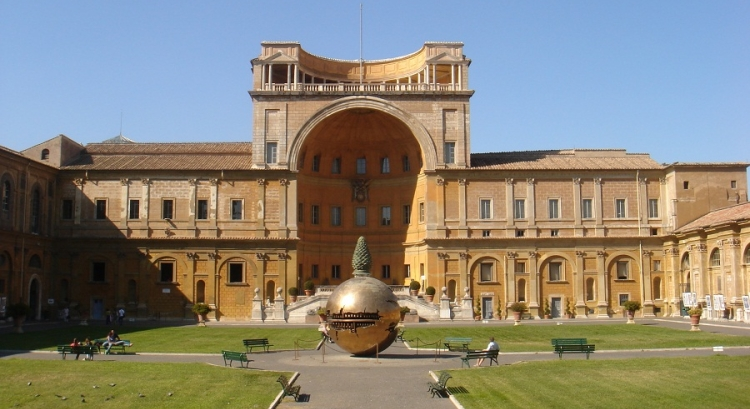 Внешний вид здания исторического музея Ватикана