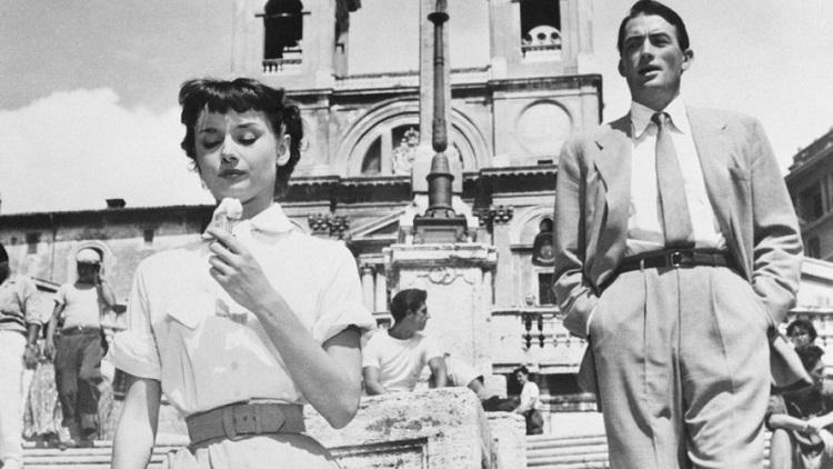 Испанская лестница в Риме - съемки фильма Римские каникулы