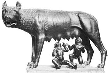 Как появилась скульптура Капитолийская волчица в Риме - несколько версий