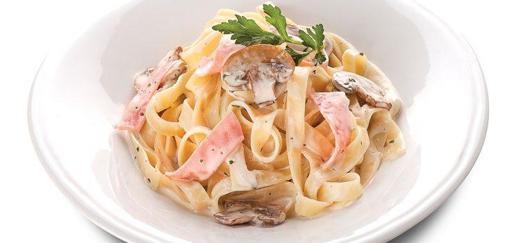 Фетучини с грибами и ветчиной - рецепт приготовления итальянского блюда