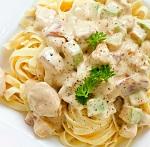 Фетучини с курицей и грибами - рецепт приготовления итальянского блюда