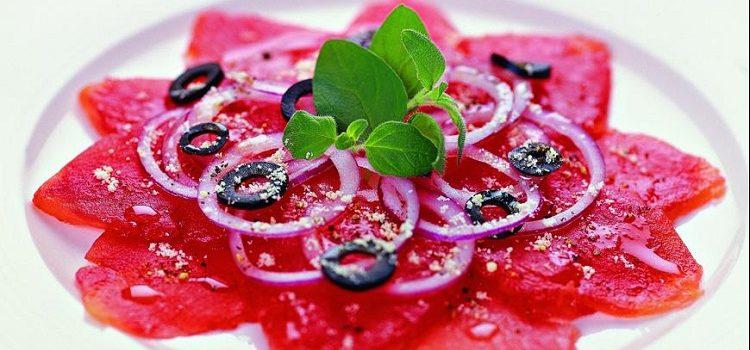 Карпаччо из помидоров - как готовить блюдо в домашних условиях