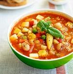 Суп минестроне с добавлением бекона - рецепт приготовления