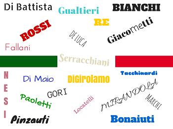 Происхождение итальянских фамилилй