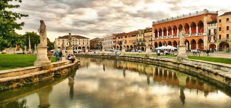Город Падуя в Италии