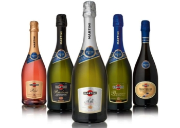 Разновидности игристых вин Мартини, включая Асти