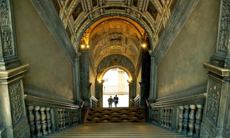 Золотая лестница на второй этаж Дворца дожей