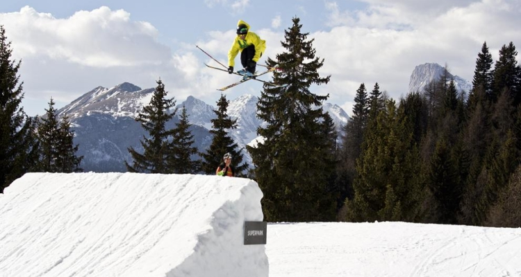 Экстримальные лыжники в Чиветте