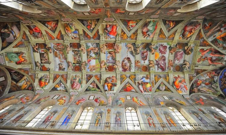 Фото росписи свода в Сикстинской капелле