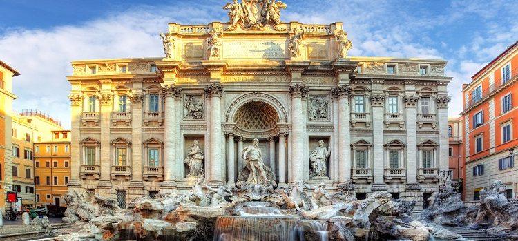 Фонтан де Треви в Риме - описание величесвенного сооружения