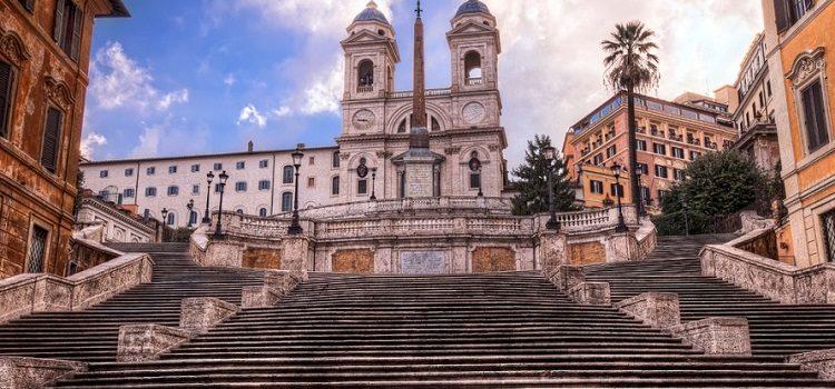Испанская лестница на карте Рима - описание достопримечательности