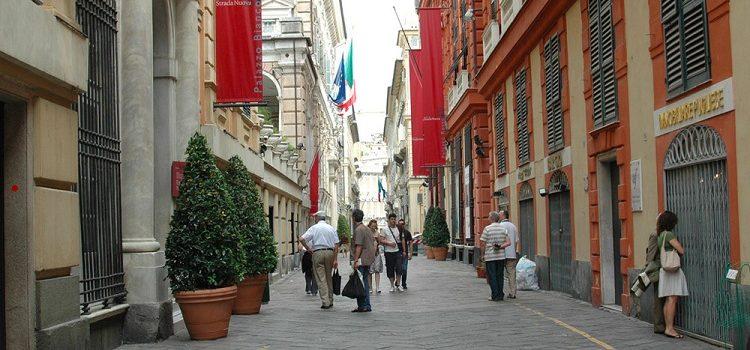 Улица в Генуе - Виа Гарибальди и ее достопримечательности