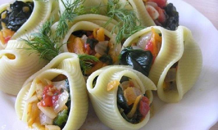 Конкильони с овощами - как приготовить блюдо в домашних условиях