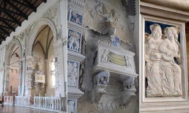 Скульптуры в храме Темпио Малатестиано - описание и история